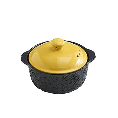 N\B Pentola da Cucina in gres da Cucina, pentola di coccio con Coperchio, pentole in Ceramica, Riscaldamento circolante, Sano e Facile da Lavare, Adatto per zuppa, Piatto stufato, Carne stufato