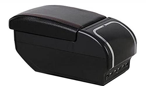 LIGUANGWEN per Opel Corsa Armrest Box Opel Corsa D Auto Universale Braccioli Central Braccioli Scatola di immagazzinaggio Tazza Supporto Portacenere Modifica Accessori (Color : F Style all Black)