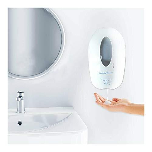 FHH - Dispensador de jabón de gran capacidad, sin tocar, dispensador de jabón automático, dispensador de jabón con sensor, dispensador de jabón para el hogar, la oficina y el hotel, Blanco