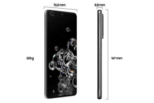 Samsung Galaxy S20 Ultra 5G Smartphone Bundle (17,44 cm) 128 GB interner Speicher, 12 GB RAM, Hybrid SIM, Android inkl. 36 Monate Herstellergarantie [Exklusiv bei Amazon]Deutsche Version, cosmic grey