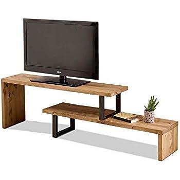vidaXL Mueble TV 120x35x48 cm Negro Metálico Estilo Industrial Aparador Cómoda: Amazon.es: Electrónica