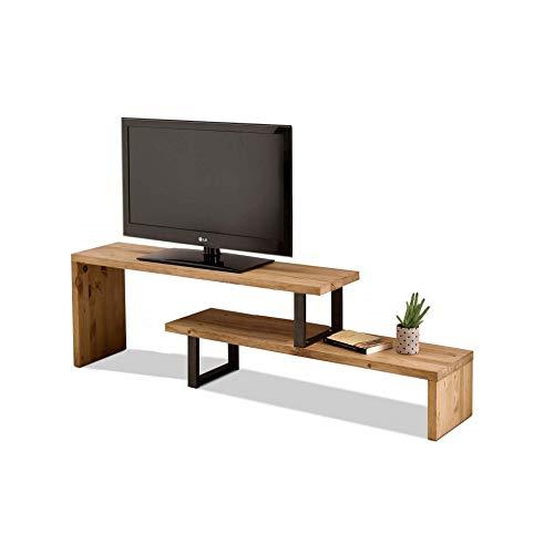 Mesa televisión, Mueble TV Salón Diseño Industrial-Vintage, Extensible de 140 cm a...