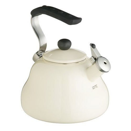 Kitchen Craft Le\'Xpress - Tetera silbante (2 L), color crema