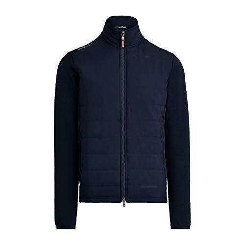 RLX Ralph Lauren Mens Wool-Blend Paneled Stretch Golf Jacket (XLarge, Navy)