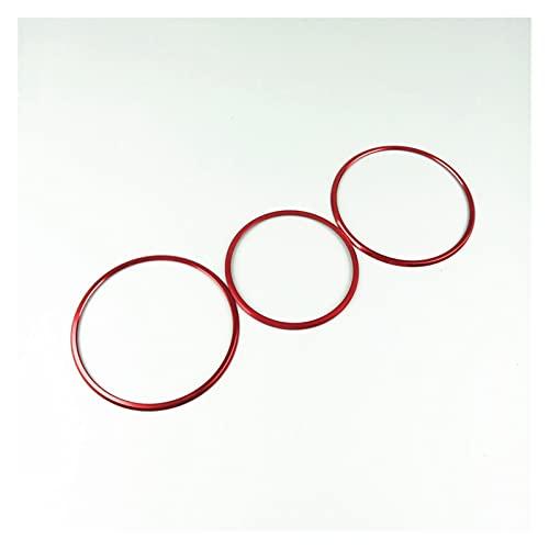 Big sell 001 Tapa de la cubierta del anillo de la perilla del ajuste del asiento TRIM 3 unids Ajuste para Mercedes Benz W176 W246 x156 C117 GLA CLA A B Clase Aleación de aluminio ( Color Name : Red )