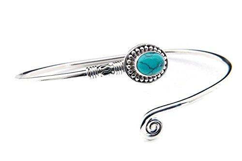 Türkis Armreif 925 Silber Sterlingsilber Armband Armspange blau grün (MAR 01-15)