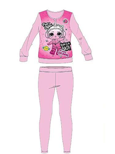 LOL SURPRISE Pigiama Bambina Rosa Maglia + Pantalone - Interlock Cotone 100% - Taglia 3 Anni - in Scatola
