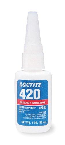 Loctite 42050 420 Super Bonder Ethyl Allgemeiner Zweck Sofortklebstoff, 1 Unze Flasche, Klar