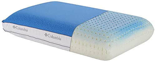 Columbia Cooling Gel Memory Foam Pillow - Comfortable and Supportive with Cooling & Breathable Features - Removable Washable Cover, Queen