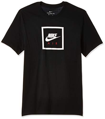 Nike Herren M NSW SS Tee AIR 2 T-Shirt, Black/(White), L