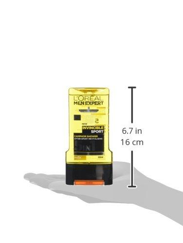 L'Oréal Men Expert Invincible Sport Shower Gel for Men, 300 ml, Pack of 6, Bulk Buy