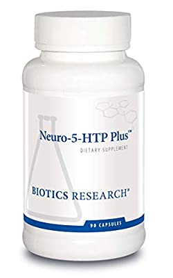 Biotics Research Neuro 5 HTP Plus Neurological Support, Calm Brain Activity, Healthy Sleep Patterns, Overall Sense of Well-Being, Promotes Relaxation, Serotonin Precursor, L Theanine. 90 Caps