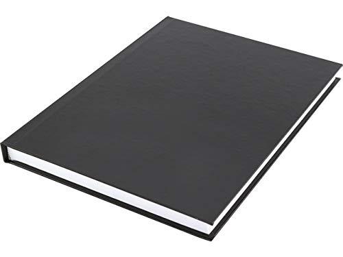 Notizbuch A5 Kangaro hard cover liniert cover schwarz, 80 grams, 80 Seiten liniert mit Seitenlinie