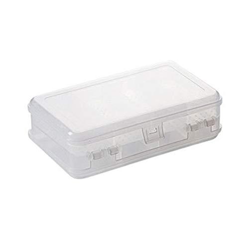 Caja organizadora de joyas de plástico transparente con 10 rejillas, elegante y creativa de doble capa, collar y pulsera, anillo de almacenamiento, adecuado para mujeres y niñas