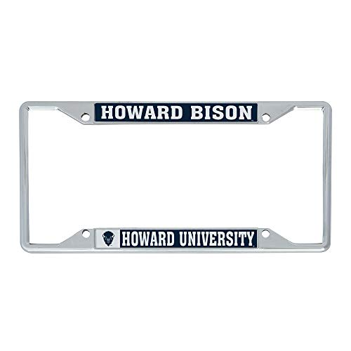 Desert Cactus Howard University Lady Bison NCAA Metal License Plate Frame for Front or Back of Car Officially Licensed (Mascot)