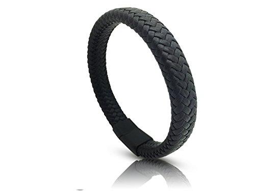 Leren Armband Zwart Man Vrouw I Bruine Armband Leer - Zwarte Armbanden Galeara RIX