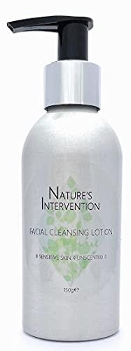 Naturel, Peaux Sensibles - LOTION NETTOYANTE VISAGE - 150 ml de NATURE'S INTERVENTION - Nettoie, protège et calme. pH équilibré, avec vitamine E. Sans parfum, sans alcool, sans huiles essentielles.