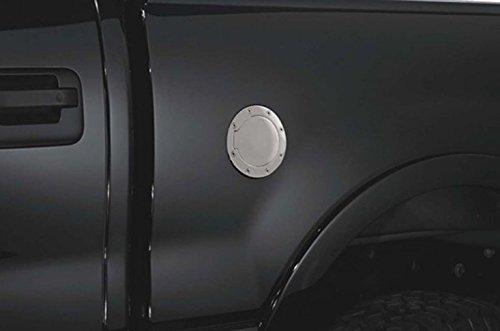S&T Racing Chrome Aluminum Fuel Gas Door Cover Cap Lock Key 09-18 for Dodge Ram 1500 2500 3500