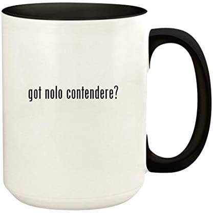 got nolo contendere 15oz Ceramic Colored Handle and Inside Coffee Mug Cup Black product image