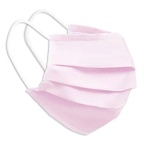 Behelfsmaske Alltagsmaske Community-Maske - Farbe rosa - mehrfach verwendbar (waschbar) - mit Nasenclip - Behelfsmundschutz Mundbedeckung Spuckschutz
