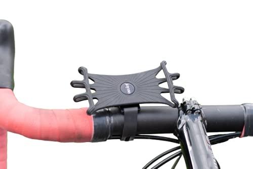 jayuu Handyhalterung Fahrrad, Universal Motorrad Handy Halterung Silikon, Fahrradhalterung 360 Grad drehbar, Smartphone Halterung für Rennrad, Motorrad & Roller, für 4,5-7,0 Zoll Smartphone