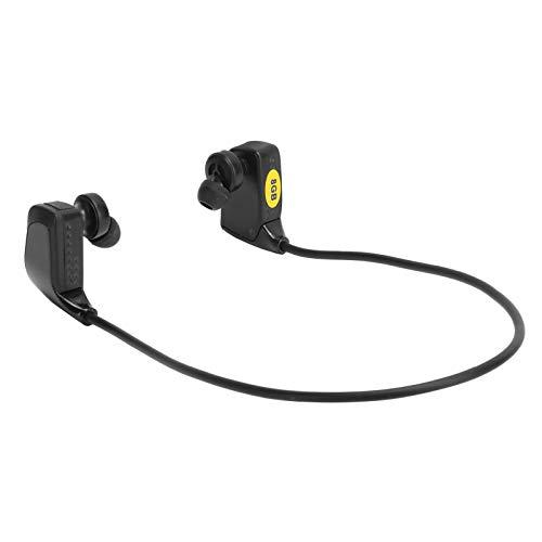 PUSOKEI Lecteur MP3 Casque Bluetooth, Casque sans Fil Batterie Intégrée de 500 MAh Écouteurs de Remplacement de Mémoire 8 Go, pour la Course, Le Fitness, l'exercice, Noir