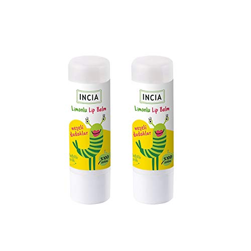 INCIA Kids Moisturising Natural Lemon Lip Balm with Shea Butter 2 x 6g
