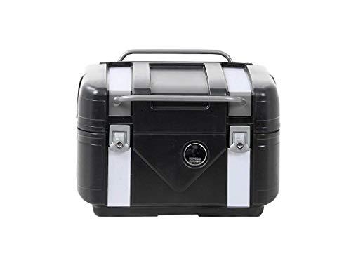 Hepco&Becker Gobi Topcase Black Edition - schwarz mit silbernen Inlays