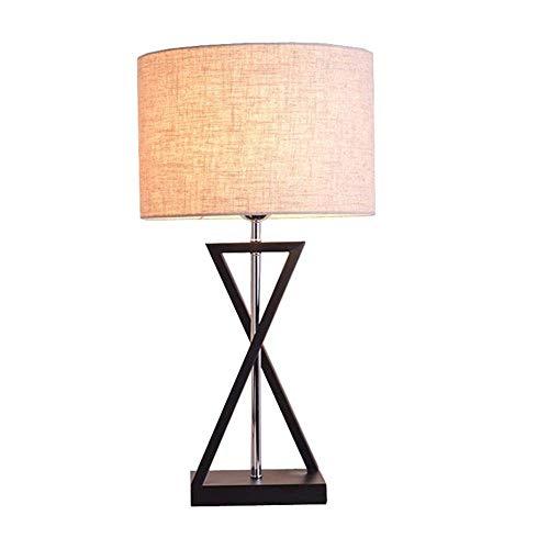 FAGavin Moderno, Europeo, Minimalista, Lámpara De Escritorio LED Hecha A Mano, Luz De Noche con Forma De X, Cuerpo De Lámpara De Hierro Hecho A Mano