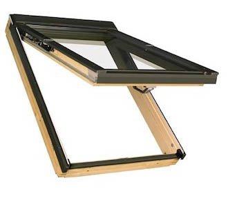 55 x 118 - FAKRO FPP - Klapp/Schwingfenster Holz FPP-V U3 mit Dauerlüftung und EDR für Dachziegel