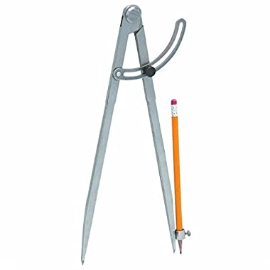 J&R Quality Tools 23877 Pencil Length Divider with Wing, 12-Inch - Life Time Warranty