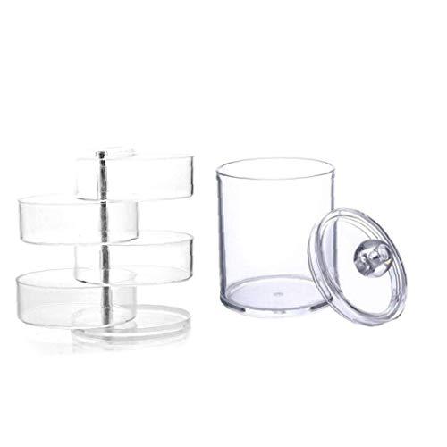 De gran capacidad cosméticos caja de cosméticos de almacenamiento de almacenamiento y joyería cosmética transparente que gira la caja de presentación, almacenamiento de baño depósito distribuidor algo