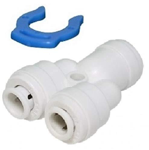 Planet-Aqua 5 x Y-Verbinder Kupplung 1/4 Zoll Osmose Schlauch Ausgang. Fitting für den Anschluss Einer Druckpumpe/Druckerhöhungspumpe an der Osmoseanlage Wasserfilter Filter Umkehrosmose Filteranlage