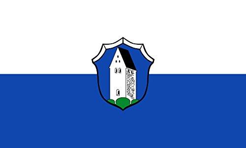 Unbekannt magFlags Tisch-Fahne/Tisch-Flagge: Oberhaching 15x25cm inkl. Tisch-Ständer