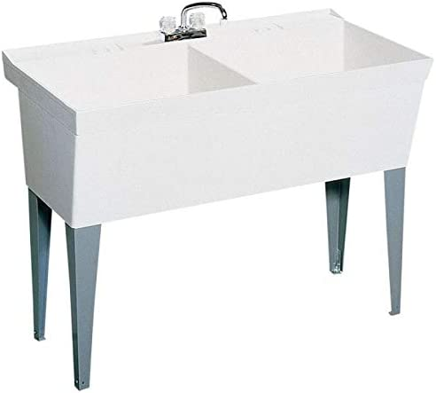 23.375-in D Easy-to-use X 45.375-in W 33.625-in Utility H Omaha Mall Rectangl Tub White