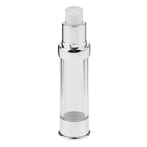 Sharplace Récipient de Bouteille de Pompe Airless pour Lotion Sérum Crème Liquide Liquide - Clair, 20 ml
