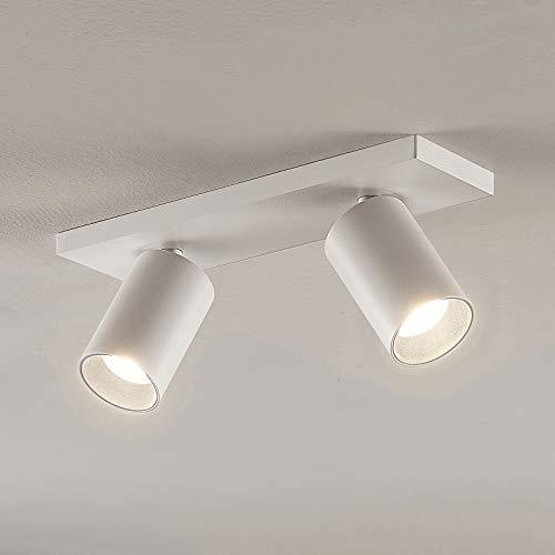 Arcchio Strahler 'Brinja' dimmbar (Modern) in Weiß aus Metall u.a. für Flur & Treppenhaus (2 flammig, GU10, A+) - Deckenlampe, Deckenleuchte, Lampe, Spot, Flurleuchte