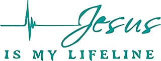 Jesus is My Life LINE Religious Vinyl Decal Sticker for Window ~Car ~ Truck~ Boat~ Laptop~ iPhone~ Wall~ Motorcycle~ Helmets~ Gaming Console~ Size 8