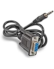Null TV TECH Jack Rs232 a módem de 3,5 mm, longitud del cable 90 cm, longitud del enchufe 17 mm, compatible con Amiko, Sab, Ferguson, Edision y una amplia gama de cajas modernas