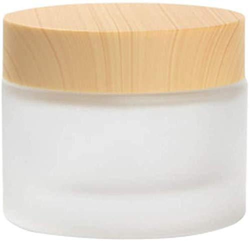 Botes de 3 botes de crema transparente para uñas, tarros de cristal con cierre de rosca para cosméticos, bálsamo labial, crema pomada en polvo, piedras de estrás, perlas, semillas, 50 g, 50 ml