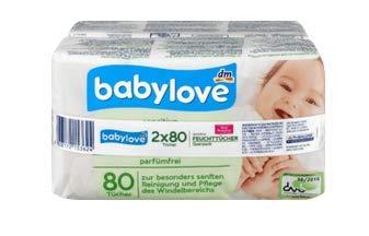 Baby sensitive Feuchttücher - Zur besonders sanften Reinigung und Pflege des Windelbereichs - 2x80St, 160 St