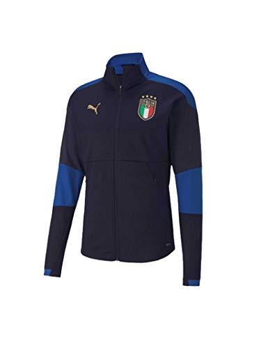 PUMA Herren FIGC Training Jacketw.z/p Peacoat-Team Jacke, Blau, M