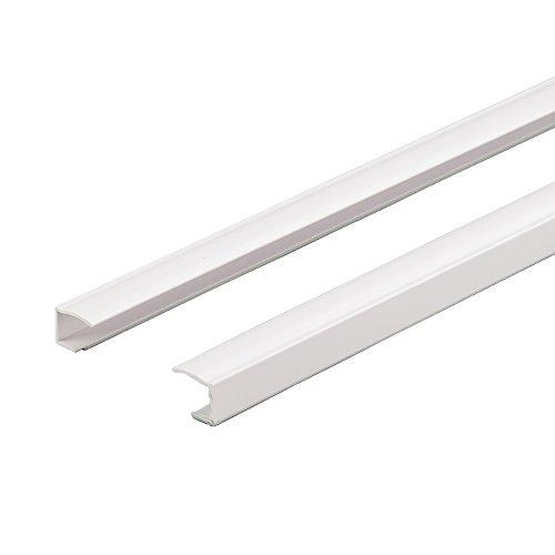 Liedeco Seitenschiene, Führungsschiene für Klemmfix-Rollos | individuell kürzbar, selbstklebend | L 150 cm | 2 Stück