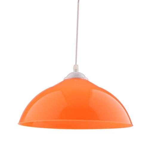 Homyl Halbrund Lampenschirm für Pendelleuchte Hängelampe Industrie Deckenlampe/Deckenleuchte - Orange