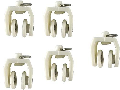 TYYA 24 unids Pista de Cortina Curvada Recta Flexible Flexible para L Forma U Fake Bay Windows Cortinas de Ducha Divisor de Sala Bricolaje Los Accesorios de Montaje Incluyen (planeadores) 0903