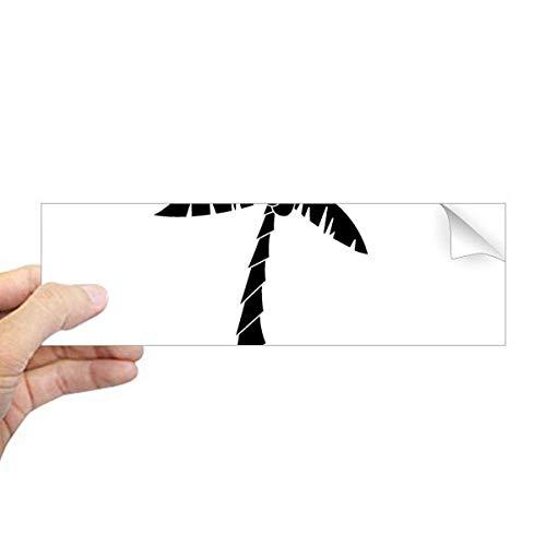 DIYthinker Plant Kokosnoot Boom Zwart Silhouet Rechthoek Bumper Sticker Notebook Window Decal