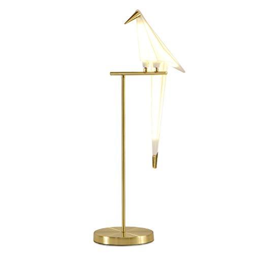 Lámpara de Mesa Bird Art Deco Papel lámpara de mesa lámpara de estar dormitorio Sala for Origami Estudio Luz de noche de lectura del vector Oro lámpara de escritorio Lámpara Escritorio