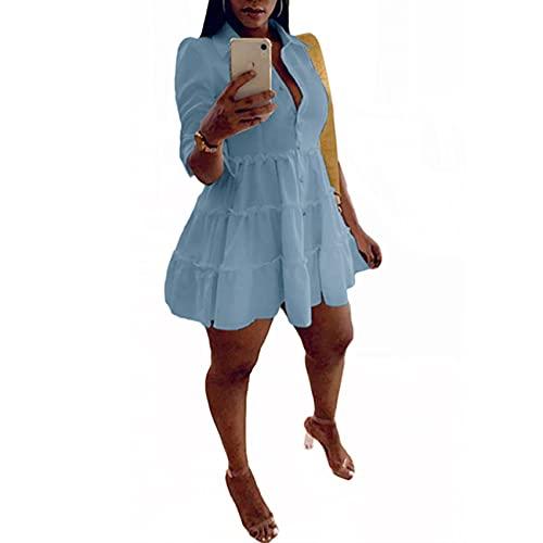 BNDFK Nuevo Vestido de Color Liso con Orejas de Madera