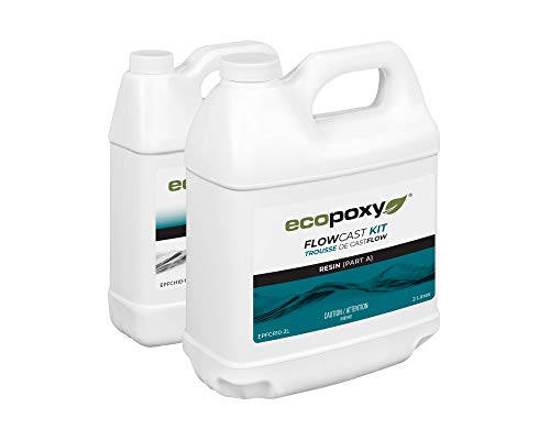 EcoPoxy FlowCast 3L Kit Clear Casting Epoxy Resin for Wood Working, Tables, Counters