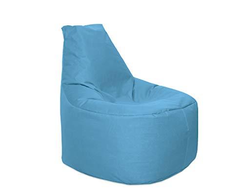 Lacasa Sitzsack XL-XXL Outdoor Indoor- Wasserdicht Wetterfest-Bodenkissen Sitzkissen Beanbag- Erwachsene Kinder- Gaming Sessel- EPS StyroporFüllung- Hochwertiges Oxford 600D (XL - 69 cm Ø, Hellblau)